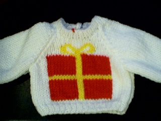 Customized Christmas Snowman Sweater Handmade for 16 inch Cabbage Patch